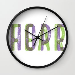 HOPEoverFEAR Wall Clock