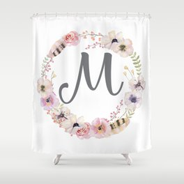 Floral Wreath - M Shower Curtain