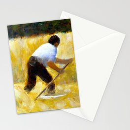 Georges Seurat The Mower Stationery Cards