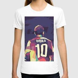 Paulo Dybala on WPAP Pop Art Portrait T-shirt