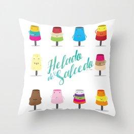 Salcedo's Ice-Cream 2.0 :: Helado de Salcedo 2.0 Throw Pillow