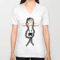rapunzel V-neck T-shirts featuring Rapunzel by famenxt