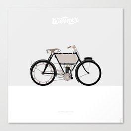 1901 Werner La Motocyclette Canvas Print