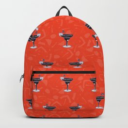Mixed Drinks Cocktails Glass Seamless Vector Pattern, Drawn Bar Illustration Backpack