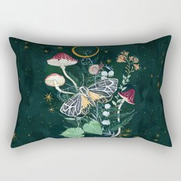 Mushroom night moth Rectangular Pillow