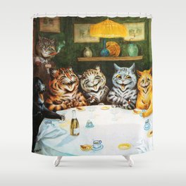 Kitty Happy Hour - Louis Wain's Cats Shower Curtain