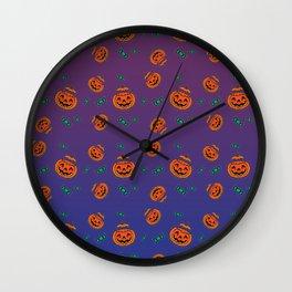 Halloween Pumpkins Wall Clock