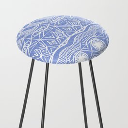 Periwinkle Blanket Counter Stool