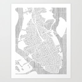 charleston city print Art Print