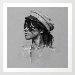 Camila Gray Sketch Art Print