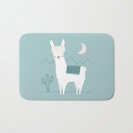 Alpaca In The Mountains Bath Mat