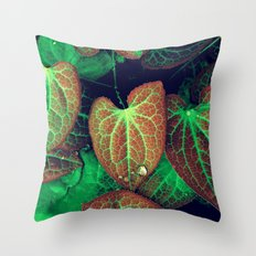 Plant Art, Simply Leaves Throw Pillow
