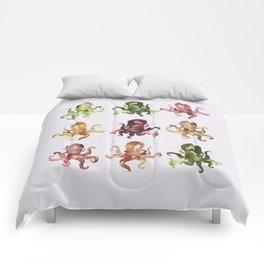 9 octopuses Comforters