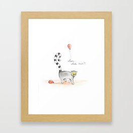 "Le Lemur, ""Whoa, What's That?!"" Framed Art Print"