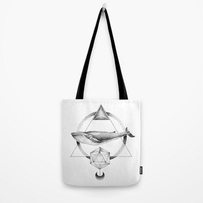 GEOMETRIC WHALE Tote Bag