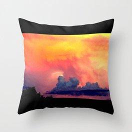 Lightning over Madison Throw Pillow