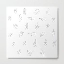 ASL Metal Print