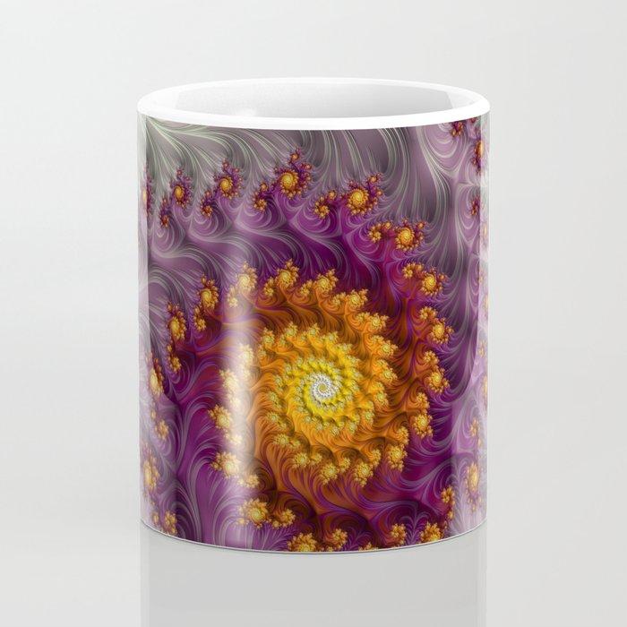 Saffron Frosting - Fractal Art Coffee Mug