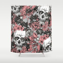 SKULLS 3 HALLOWEEN Shower Curtain