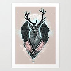 Wind:::Deer Art Print