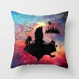 Back To Wonderland Throw Pillow