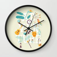 adventure Wall Clocks featuring Adventure  by Wharton