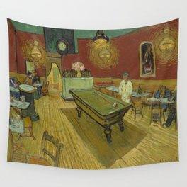 """Vincent van Gogh """"Le café de nuit (The Night Café)"""" Wall Tapestry"""