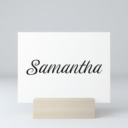 Name Samantha Mini Art Print