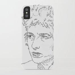 Bob Dylan WordsPortrait  iPhone Case