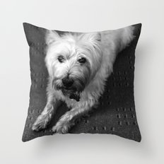 Odie (B/W) Throw Pillow
