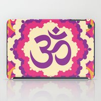 ohm iPad Cases featuring Ohm Mantra Print in Purple Pink & Yellow by MY  HOME