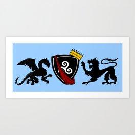 Merlin (Merthur) Crest Art Print