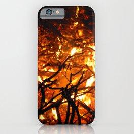 Fire Burning Bonfire Campfire Night iPhone Case