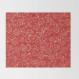 Simple Flowers Pattern 12 Throw Blanket