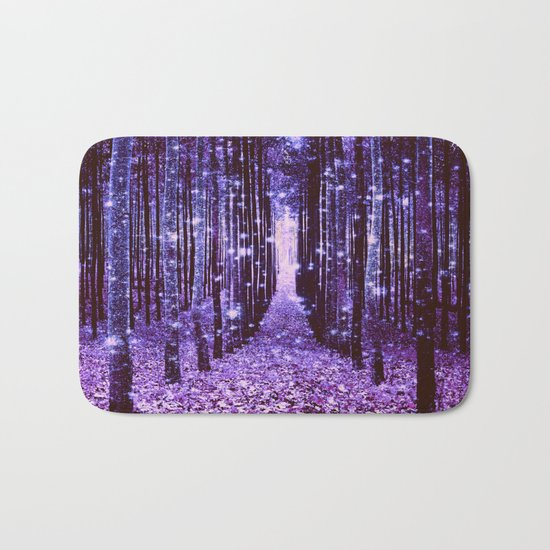 Magical Forest Purple Bath Mat