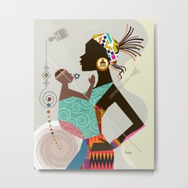 Mother & Child Metal Print