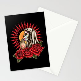 Praying Santa Muerte - La Calavera Catrina Stationery Cards