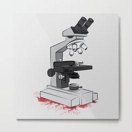 Optical microscope Metal Print