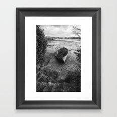 The old boat Framed Art Print