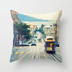 San Francisco Cable Car Throw Pillow