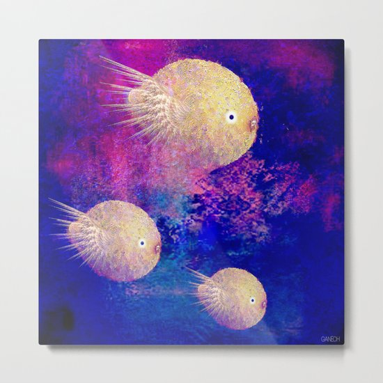 The lemon chicks Metal Print