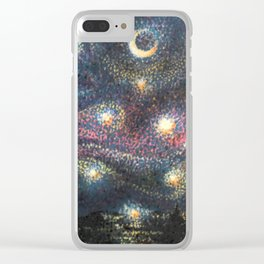 Starry Night 2 of 3 Clear iPhone Case
