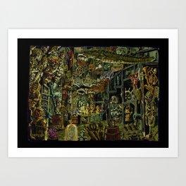 Skeleton Key Lighthouse 02. Treasures from the Briny Deep Art Print