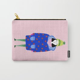 Girl in winter coat Carry-All Pouch