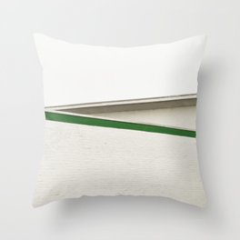 green architecture Throw Pillow