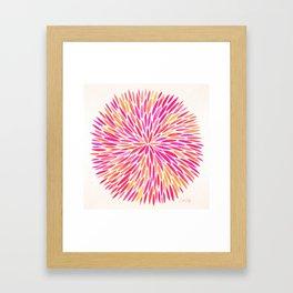Watercolor Burst – Pink Ombré Framed Art Print