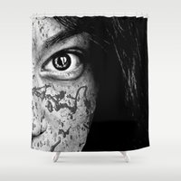 anonymous Shower Curtains featuring Anonymous - Ella 2 by Fernando Vieira