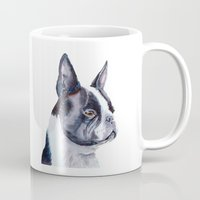 terrier Mugs featuring Boston terrier by Doggyshop