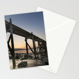 The old Peir at Holywood Stationery Cards