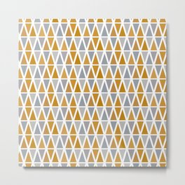 Golden and silver triangles Metal Print